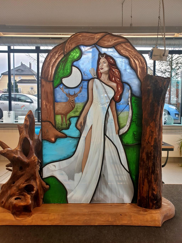 """Meisterstück Jennifer Sieber """"ARTEMIS"""" Göttin des Waldes, der Jagd, des Mondes und der Geburt"""