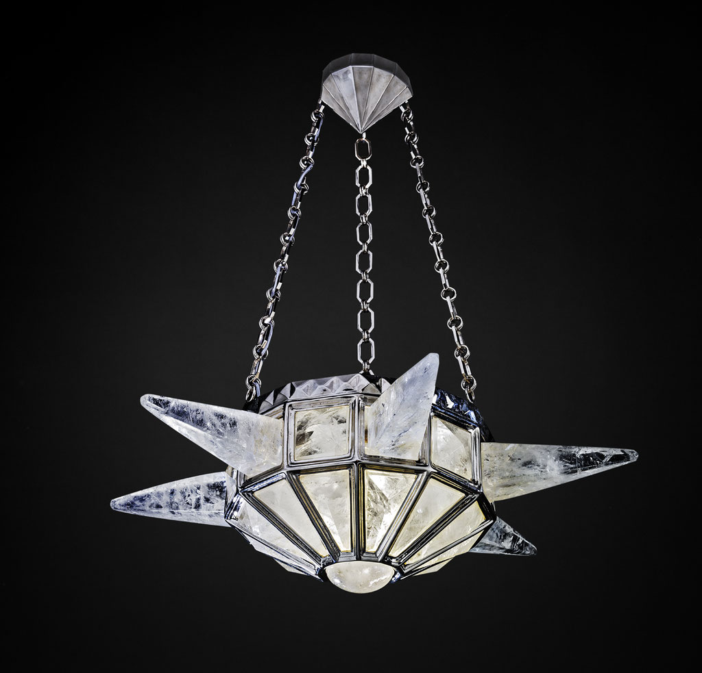 ROCK CRYSTAL SUNSHINE III CHANDELIER SILVER EDITION