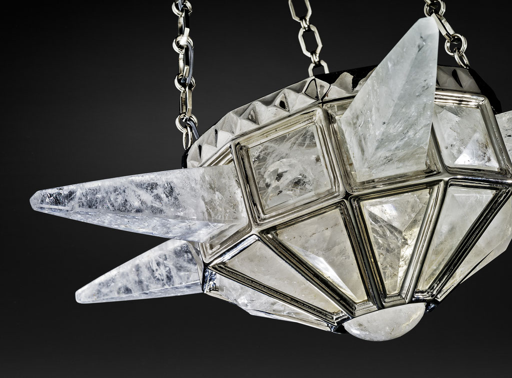 rock Crystal chandelier.Alexandre VOSSION DESIGN