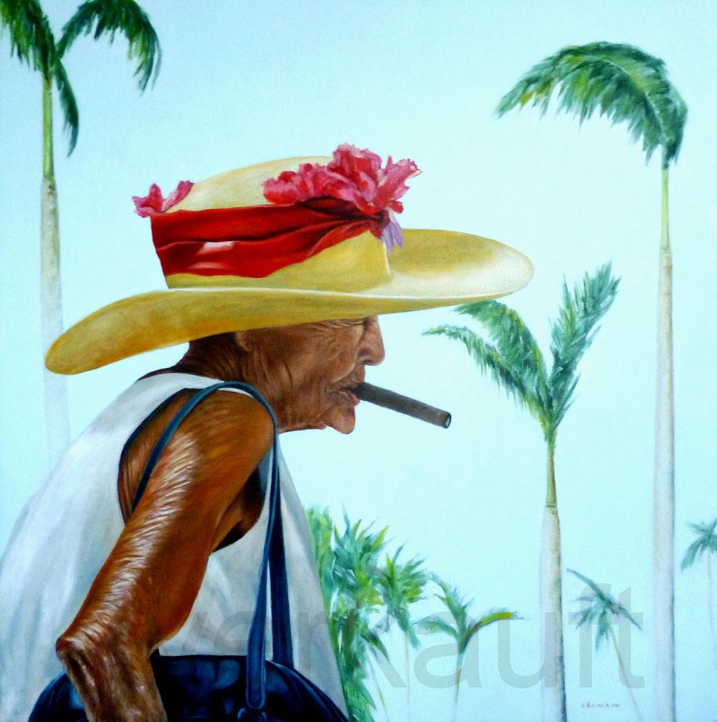 """Cuban Beauty"" 70x70cm Öl auf Leinwand   verkuft"