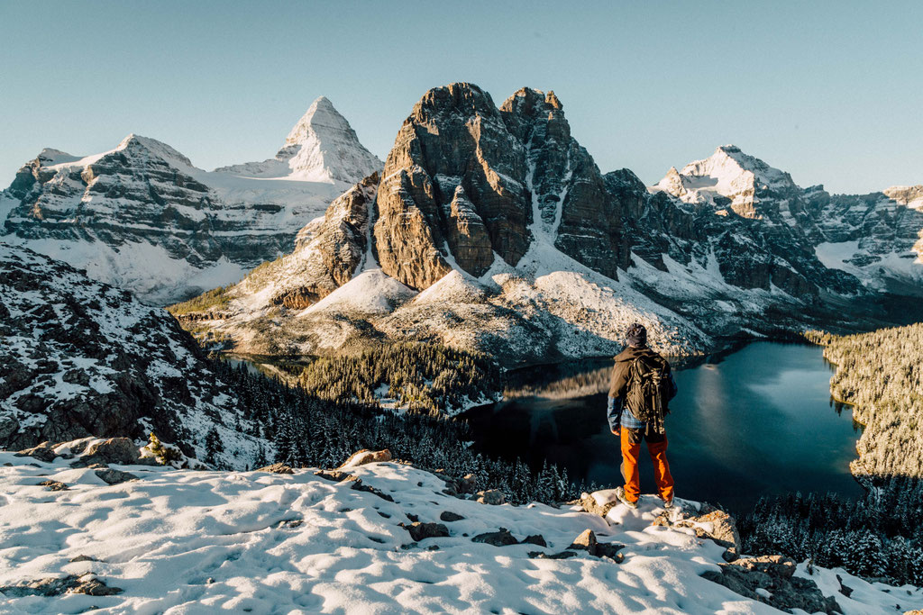 View from the Niblet overlooking Sunburst Peak and Mt Assiniboine