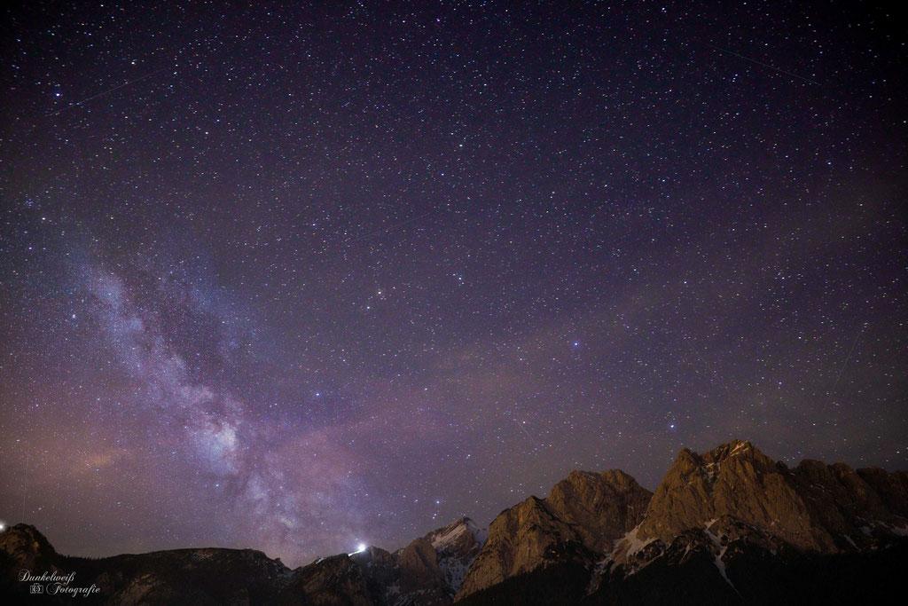 Landschaftsfotografie - Die Milchstraße über der Zugspitze