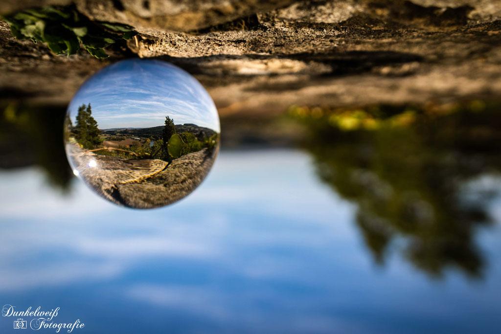 Landschaftsfotografie -Burg Vlotho mit Lensball