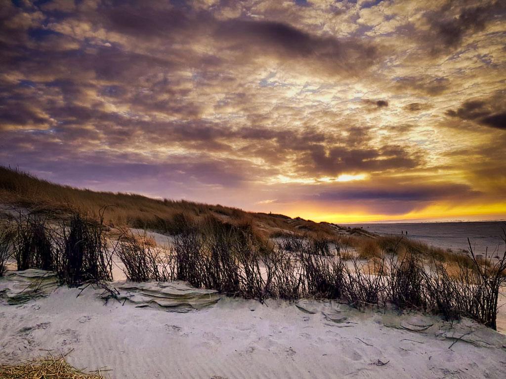 Landschaftsfotografie - Jyst Sonnenuntergang in den Dünen