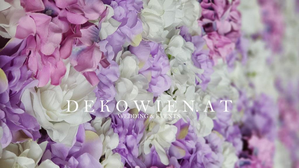 Seiden Blumenwand mieten flieda-lavendel