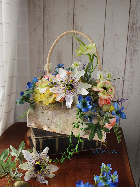 トケイソウのバッグブーケ