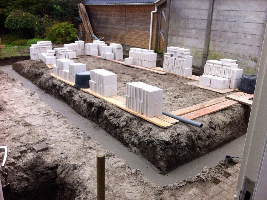 Nieuwbouw schuur/garage