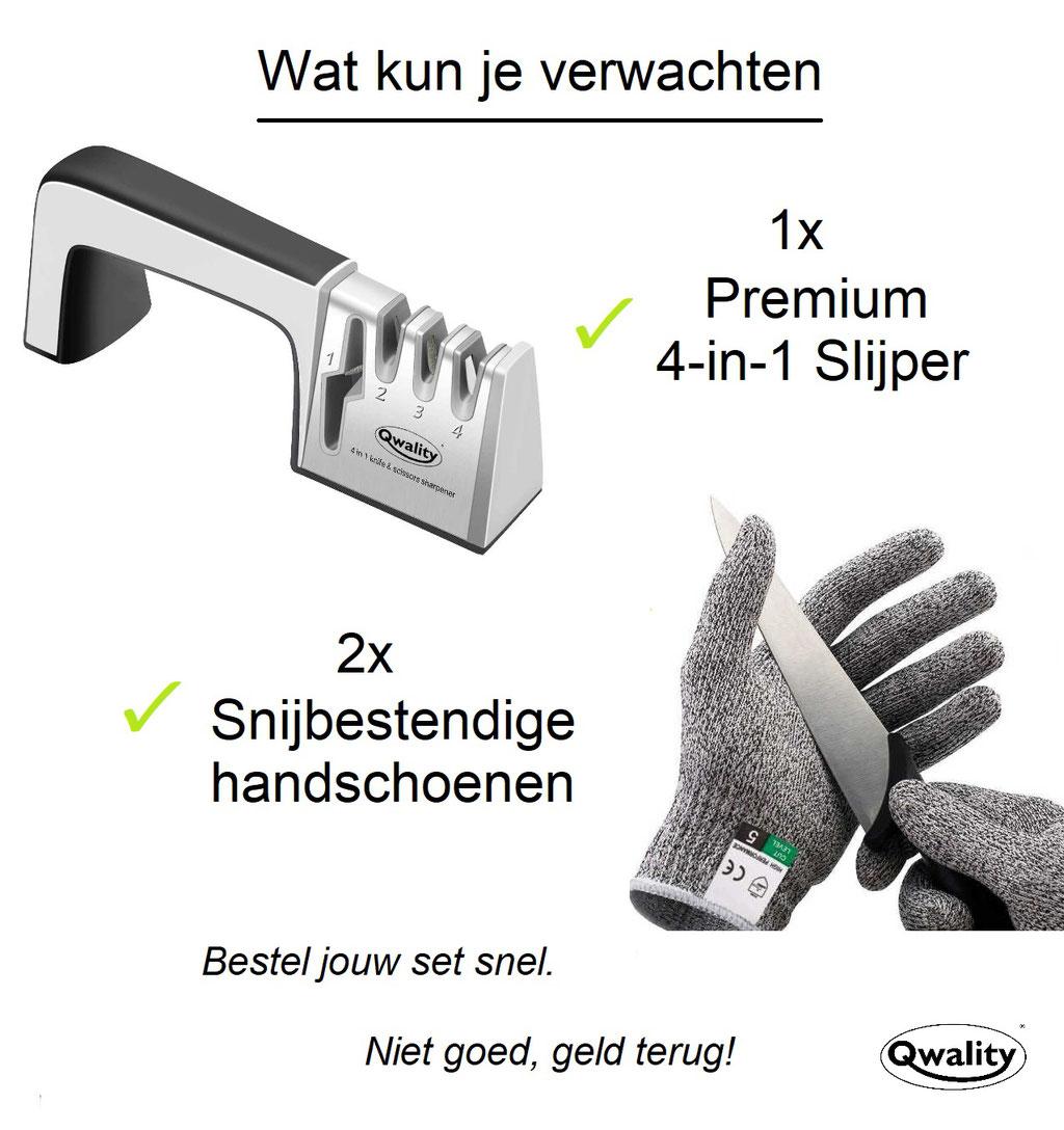 Messenslijper - Doortrekslijper - Messen Slijpen - Qwality -