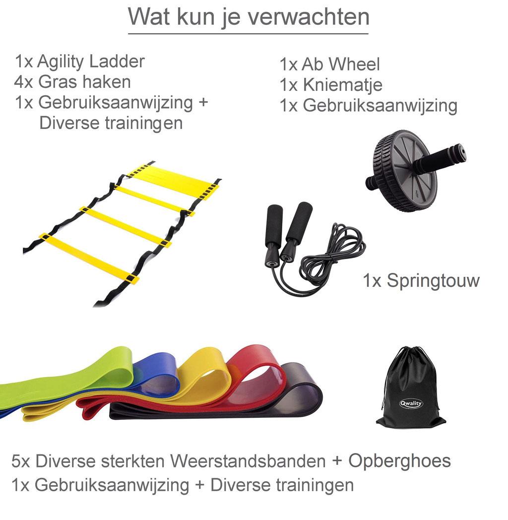 Weerstandsbanden Agility Ladder Resistance Bands Ab Wheel Roller Thuis Sporten Oefeningen Trainen Fitness