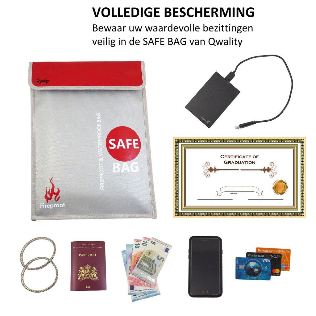 Vuurzak Hittebestendige zak documenten veilig aktetas brandwerend waterdicht LiPo bag