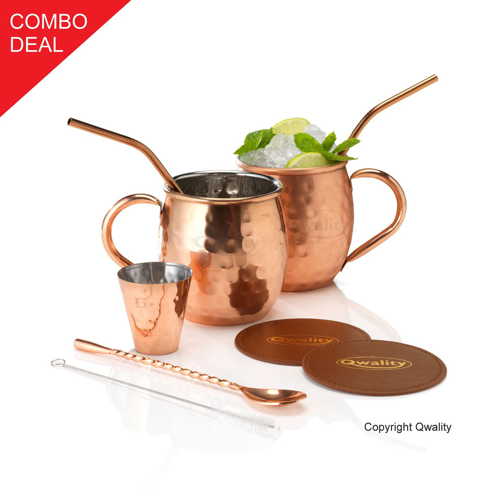 Moscow Mule - Mule Cocktail Bekers - Cocktail set - Nederland Recept Wodka Mix cocktail set beker