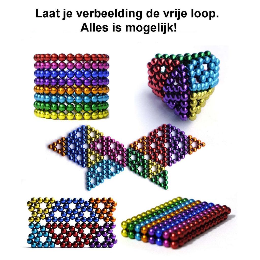 Magneetballetjes neocube magnetische balletjes buckyballs bucku balls kleine magneten speelgoed