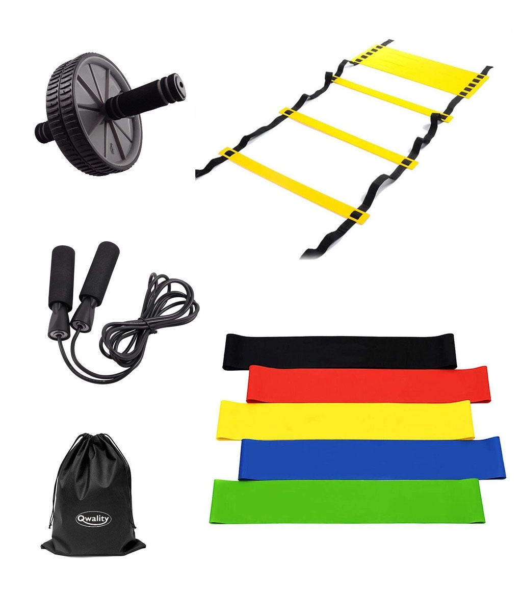 Weerstandsbanden Resistance Bands Agility Ladder Ab Wheel Roller Thuis Sporten Oefeningen Trainen Fitness