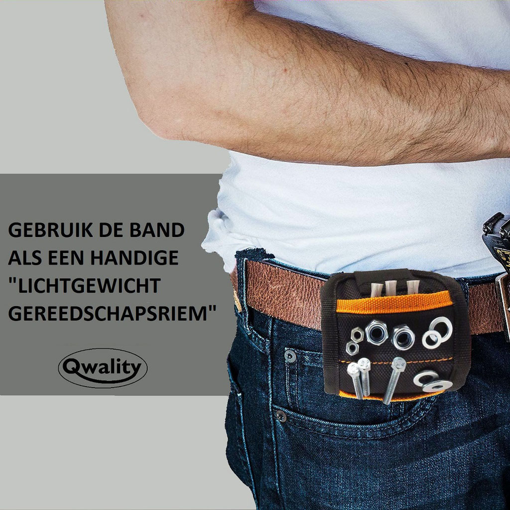 Magnetische armband klusarmband cadeau voor hem haar gadget bitjeshouder pols gereedschapsriem vaderdag moederdag