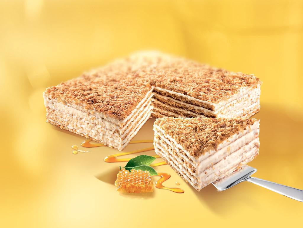 MARLENKA Honigtorte mit Zitrone