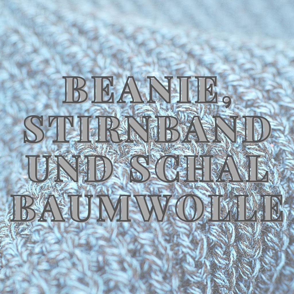 Beanie und Schal Baumwolle