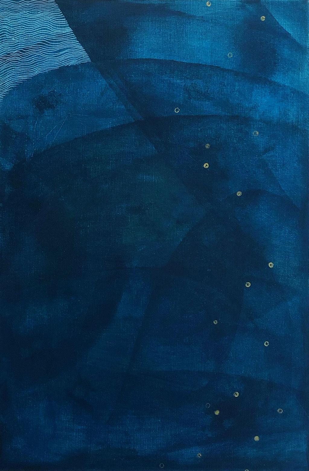 『うたかた#1』(600mm×400mm/キャンバスにアクリルガッシュ、インク)