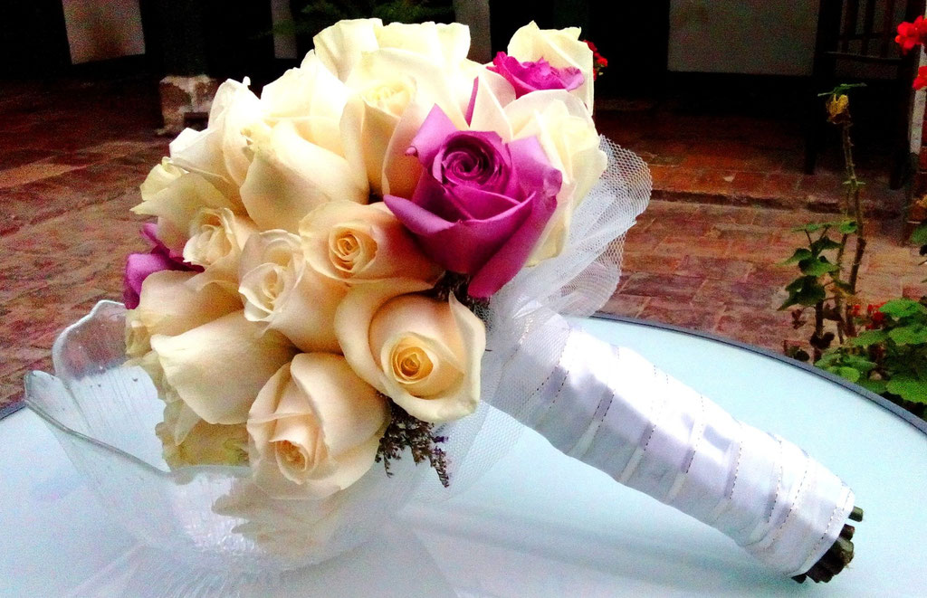 Ramo de novia redondo Cajicá