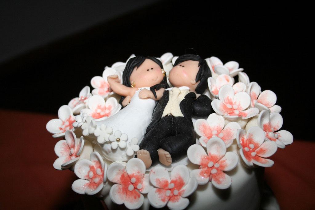muñecos pastel boda Cajicá