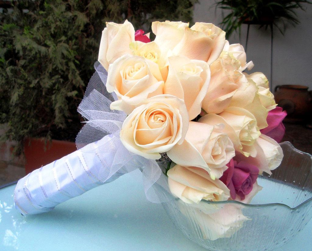 Ramo de novia redondo en Cajicá