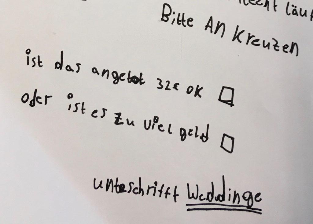 Angebote Verfassen Die Weddinge Schülerfirma Von Kids Ausm Kiez