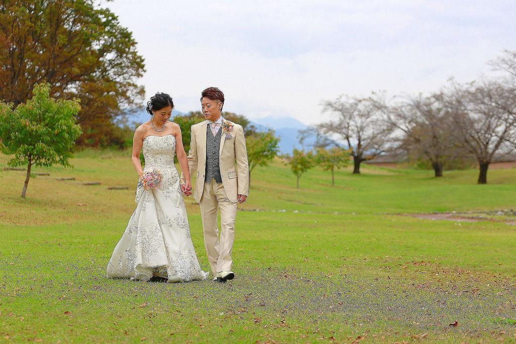 山梨結婚写真 フォトウェディング スタジオ ロケーション撮影 写真スタジオ写真館