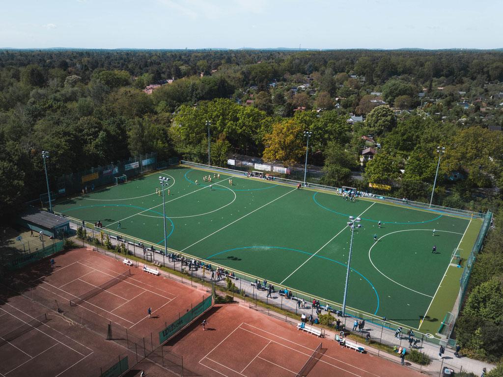 Luftbild Hockeyplatz
