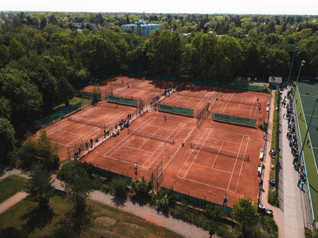 Luftbild Tennisplätze