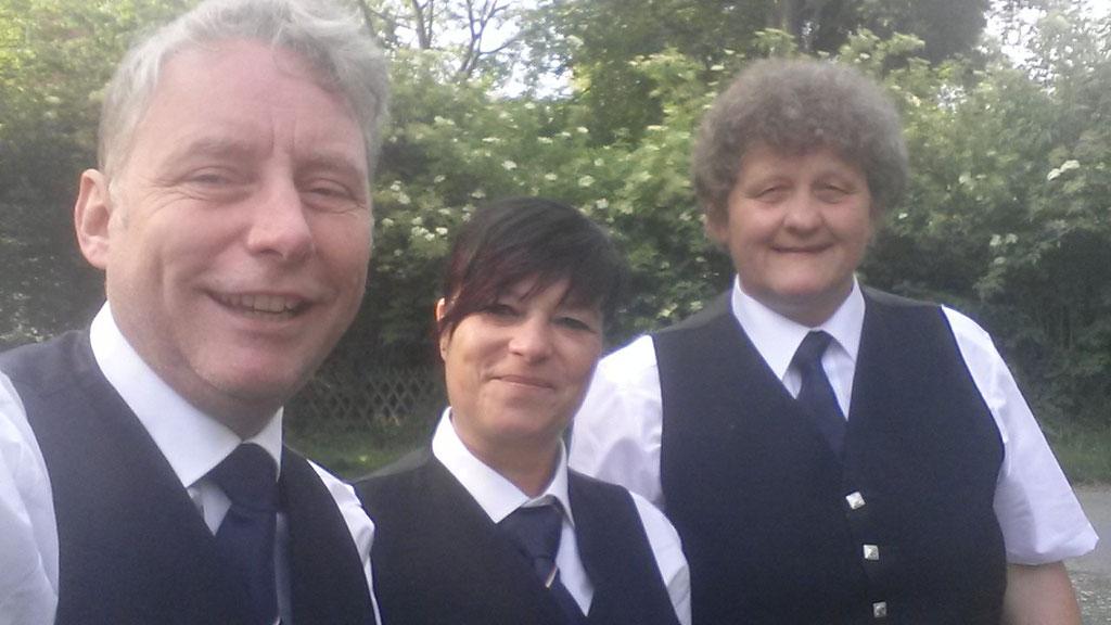 Als Pipe-Trio mit unserer Gastspielerin Uta
