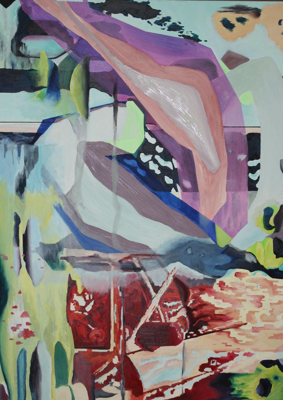Insight V, 2018, Öl auf Leinwand, 50 x 80 cm