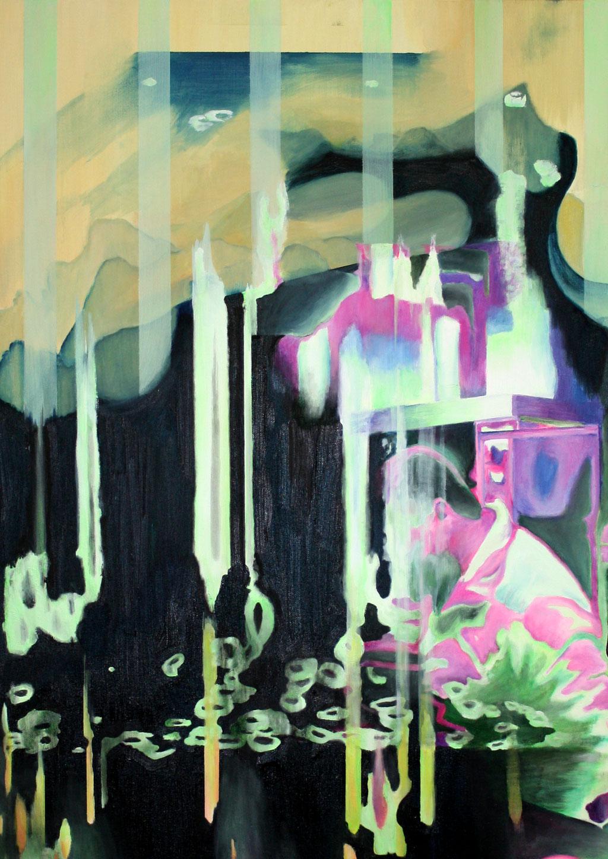 Insight IV, 2018, Öl auf Leinwand, 50 x 80 cm