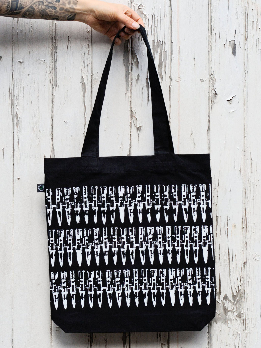 Zebraspider in the Punkrock-Shop! - bullets tote bag - Zebraspider Eco Anti-Fashion Blog