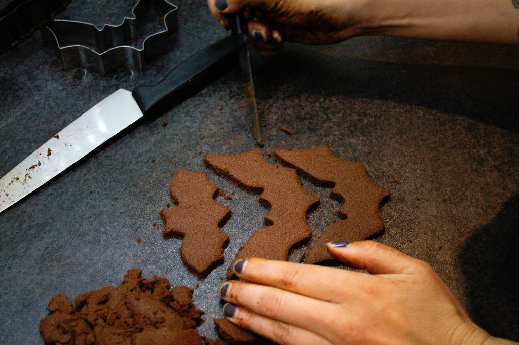 Halloween DIYs Part 1 - cinnamon bats decorative cookies - Zebraspider Eco Anti-Fashion
