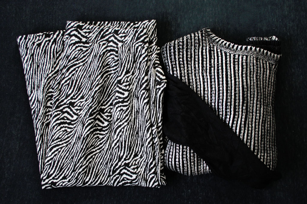Ethical Fashion Show Upcycling Outfit - Second Hand Material - Zebraspider DIY Anti-Fashion Blog