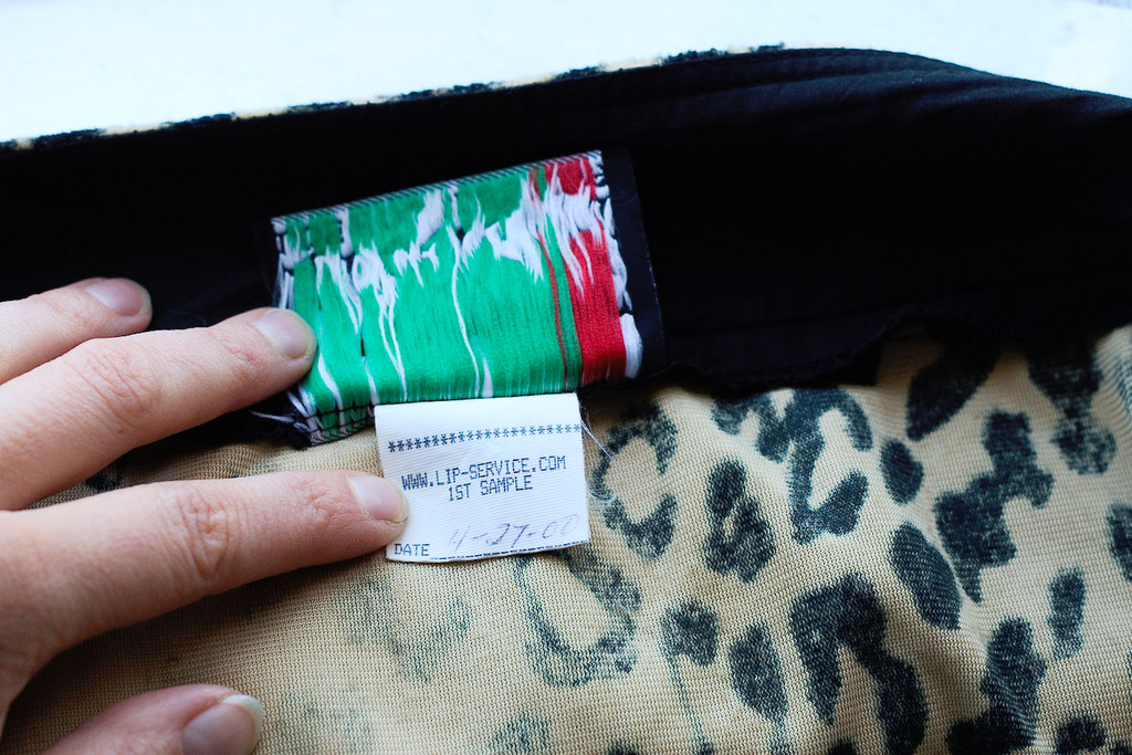 Flohmarkt: Röcke und Leggings - Lip Service Sample Minirock Leopard natur - Zebraspider DIY Anti-Fashion Blog