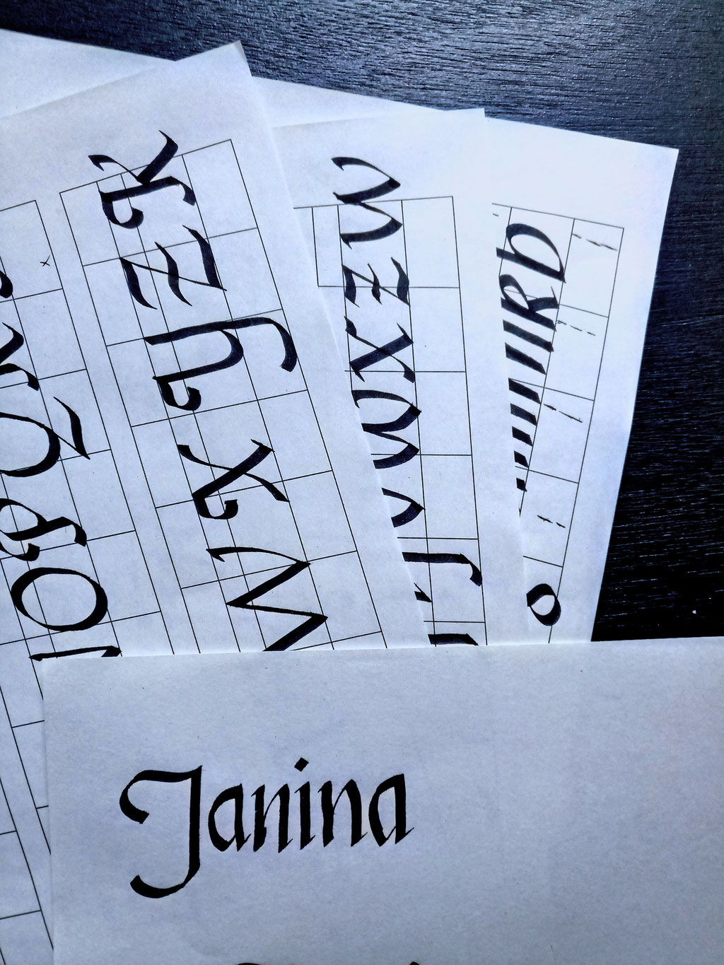 What and how I've been doing 3 - calligraphy practice - Zebraspider DIY Anti-Fashion Blog