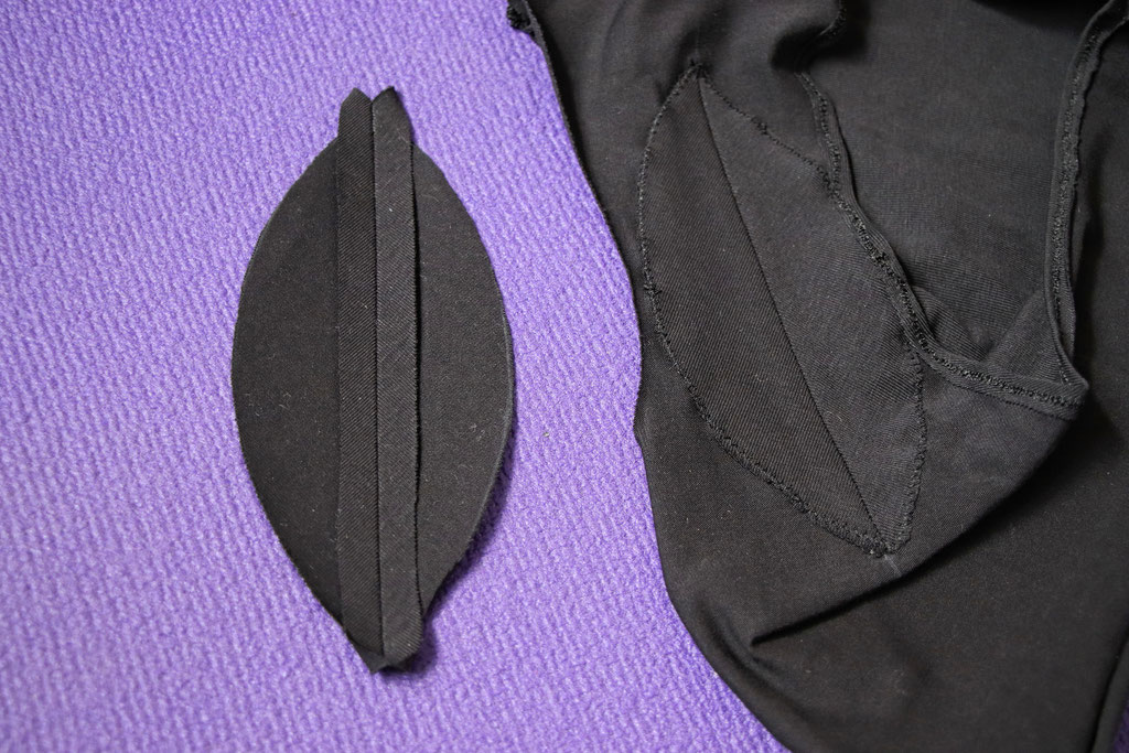 How to sewZero-Waste undies - two part gusset inside - Zebraspider Eco Anti-Fashion