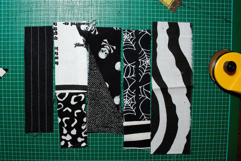 Punk Patchwork - Mug Rug nähen und mehr - Streifen - Zebraspider DIY Blog