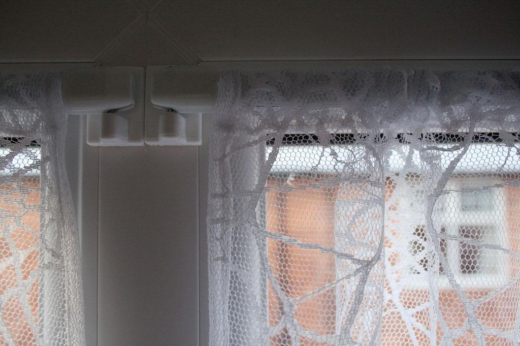Coole Klamotten auch für die Fenster - Spinnennetz Gardine - Zebraspider DIY Anti-Fashion Blog