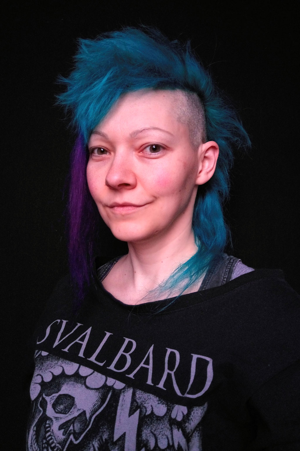 What and how I've been doing - short turquoise mullet mohawk - Zebraspider DIY Anti-Fashion Blog