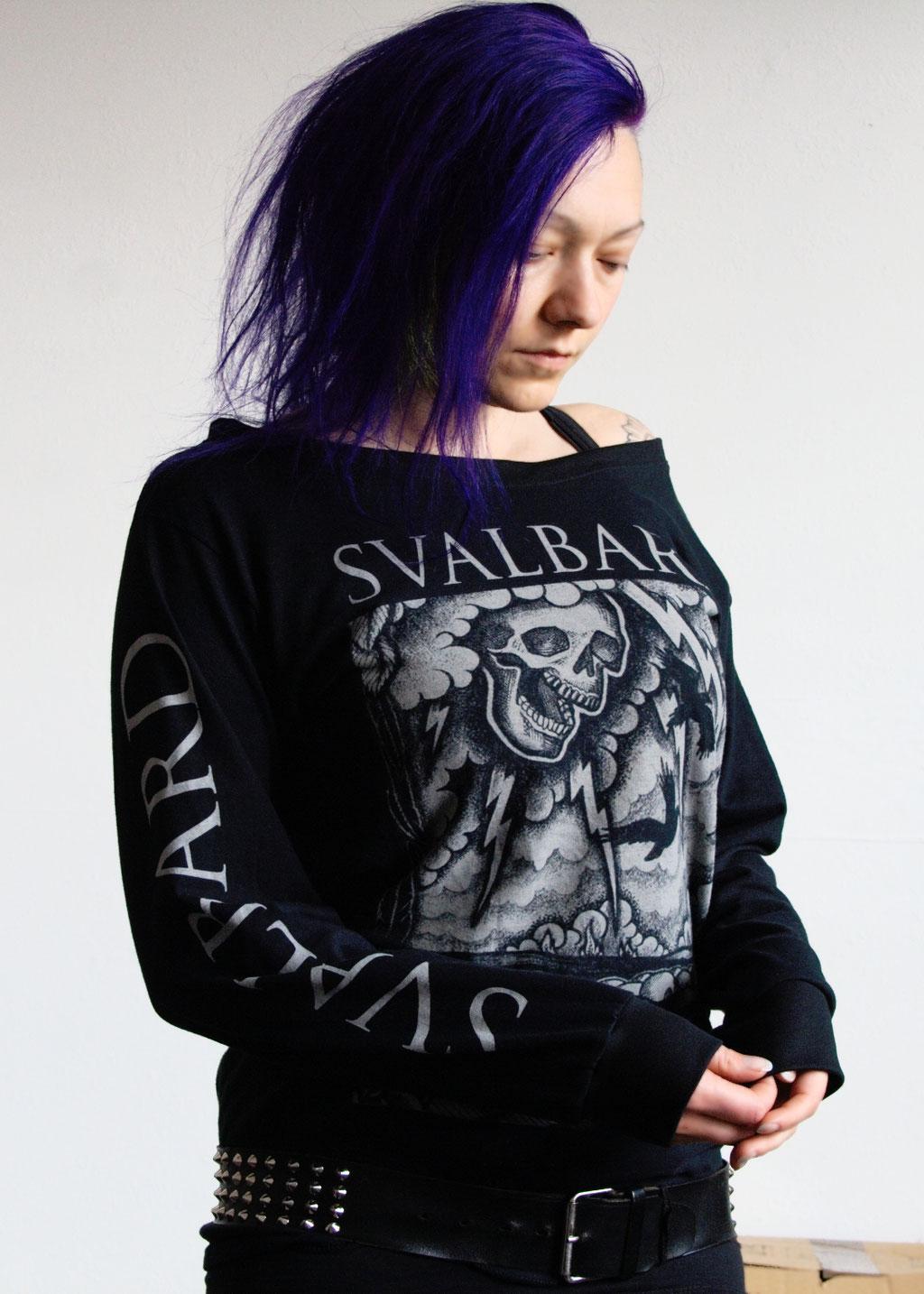 MPF Entdeckungen + Bandshirt-Upgrade - Svalbard Longsleeve mit Ärmeldruck - Zebraspider DIY Anti-Fashion Blog