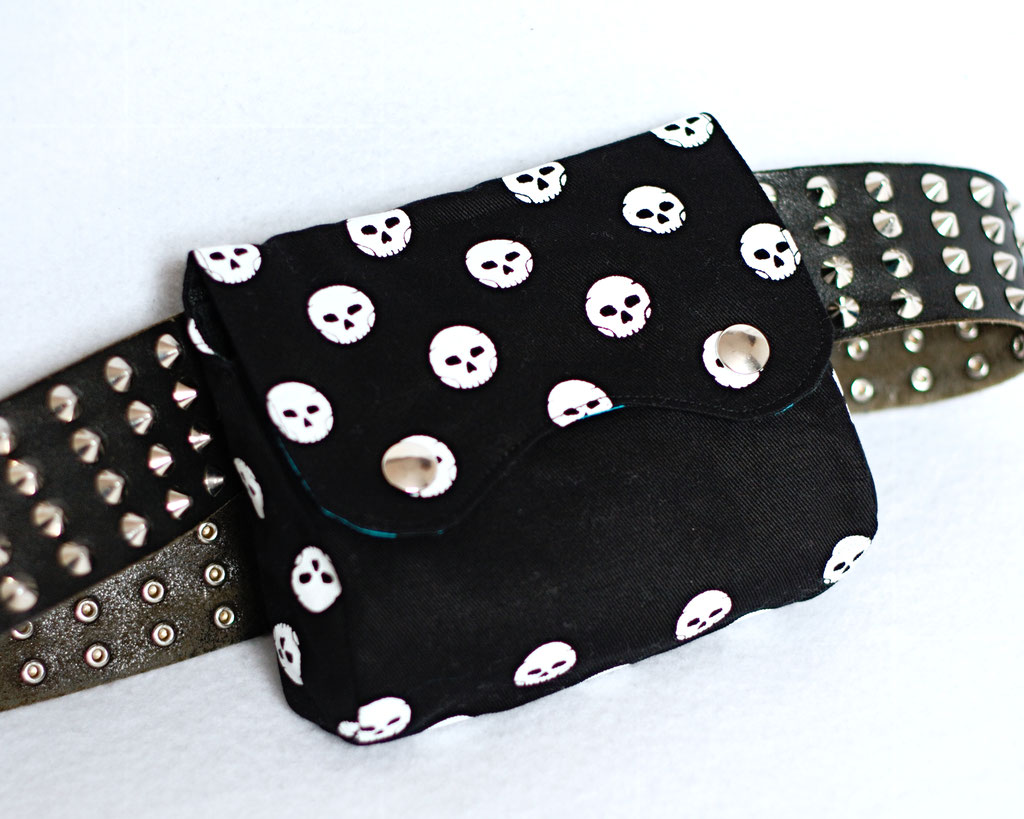 2021 belt bags and new shoulder bags out now! - Polka Skulls & Zebra belt pouch - Zebraspider Eco Anti-Fashion