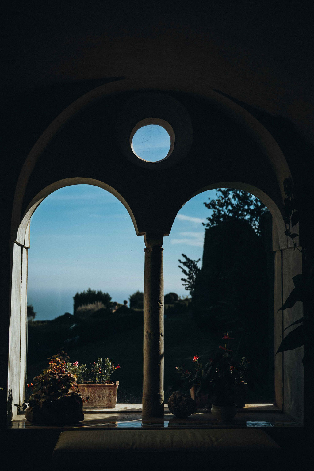 photo of the landscape seen from villa cimbrone
