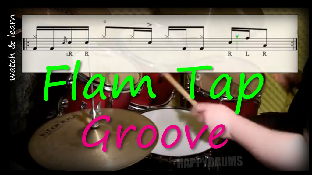 funny flam tap drum set rudiment groove