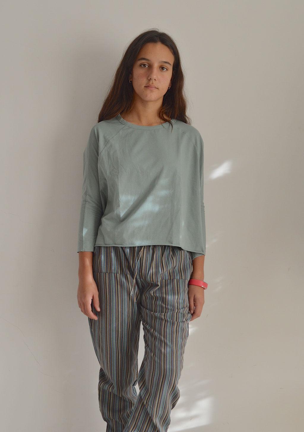 Pantalón con cintura elástica de algodón con diseño de tela inspirado en la típica tela de Nepal