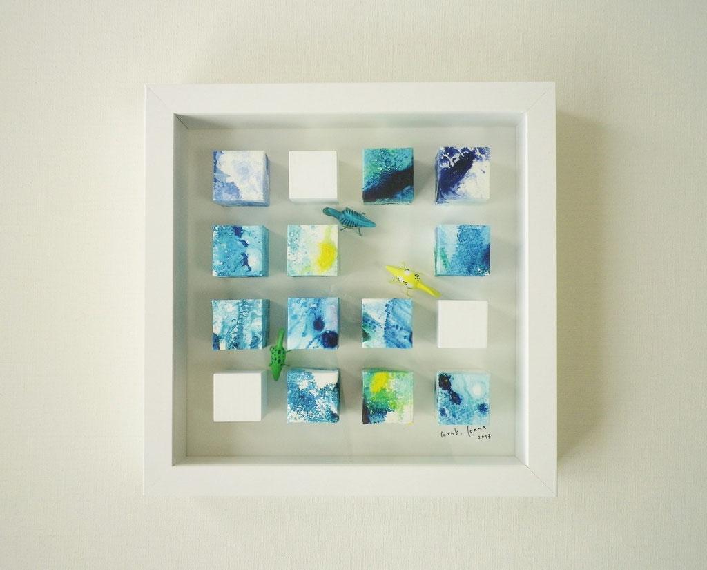 「OSマンション 303」 油彩、水彩、画用紙、木材、合成樹脂 2013
