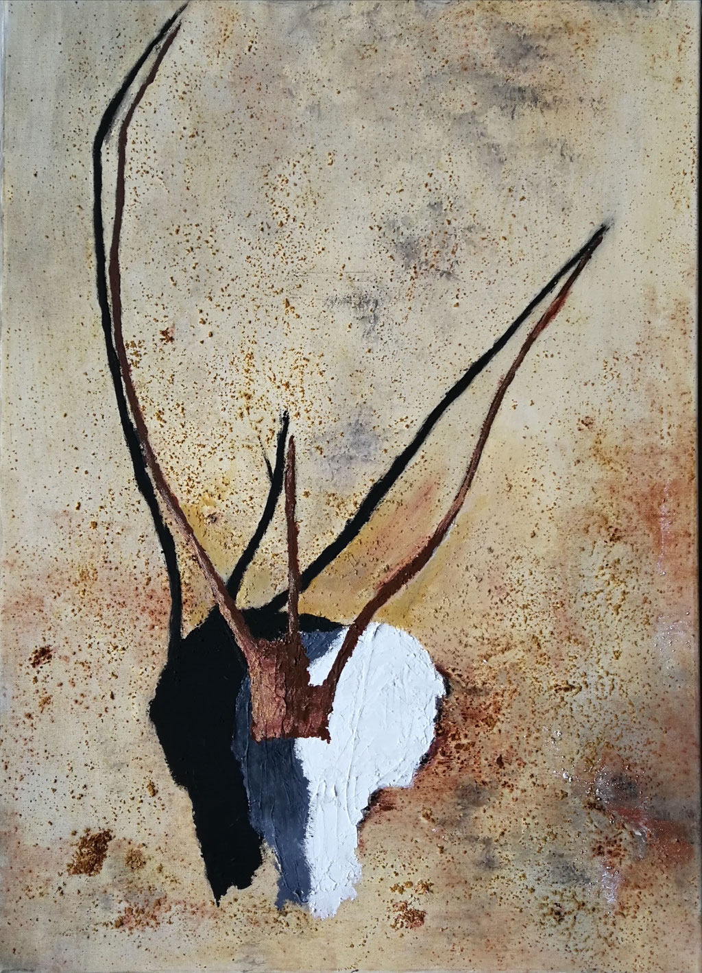 Gazelle 2019, Acryl auf Leinwand 50x70, vergeben