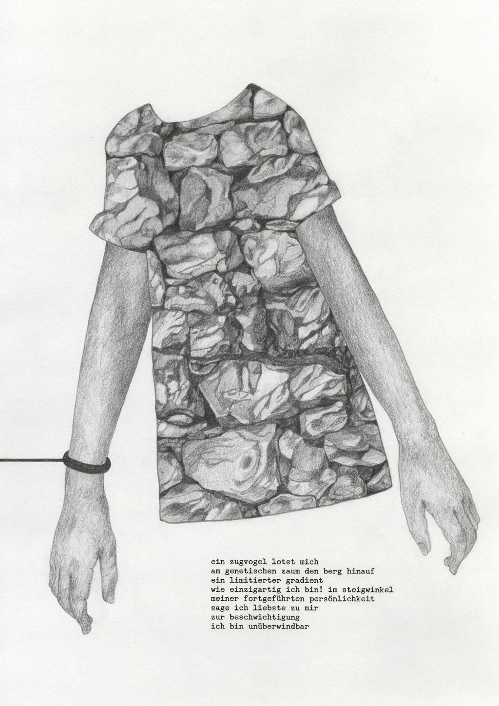 mauersegeln / 42 x 29,7 cm / bleistift, inkjet auf papier / 2020
