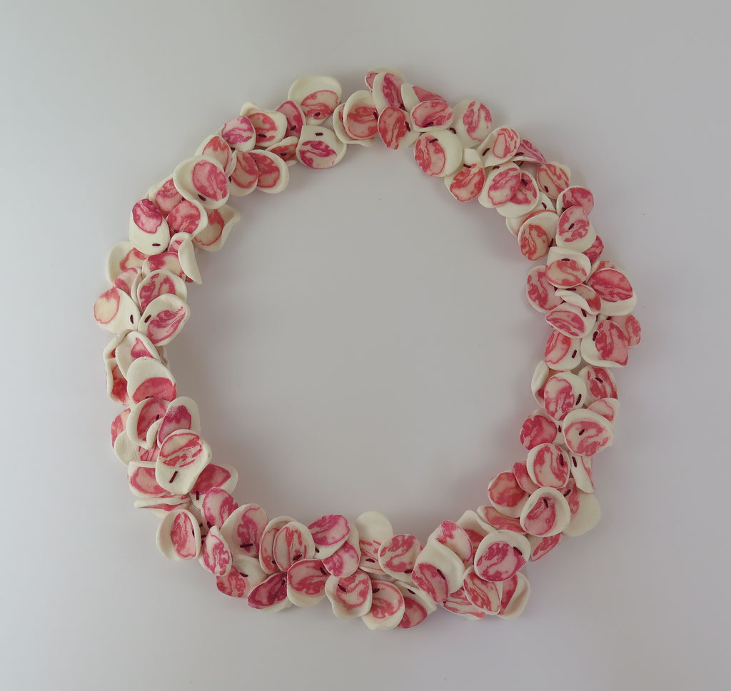 """Collar"" papel, polymer clay, hilo, plata"