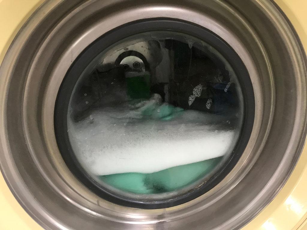 機械洗浄が可能な着ぐるみは、オゾン溶水でしっかり洗浄いたします
